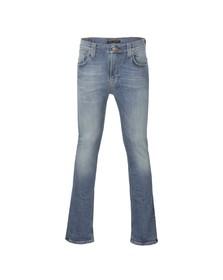 Nudie Jeans Mens Blue Thin Finn Tender Blues Dry Stretch Jean