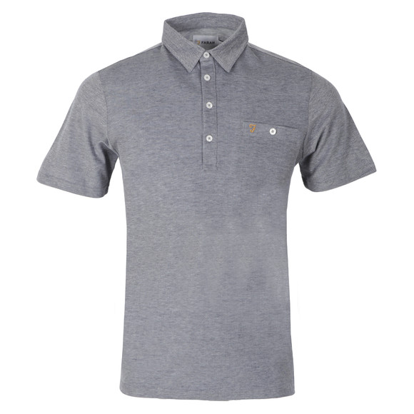 Farah Mens Blue Tennyson Polo Shirt main image