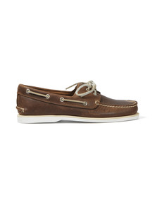 Timberland Mens Brown Oiled Boat Shoe