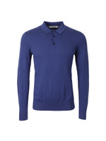 ME00181 Knitted Long Sleeve Polo