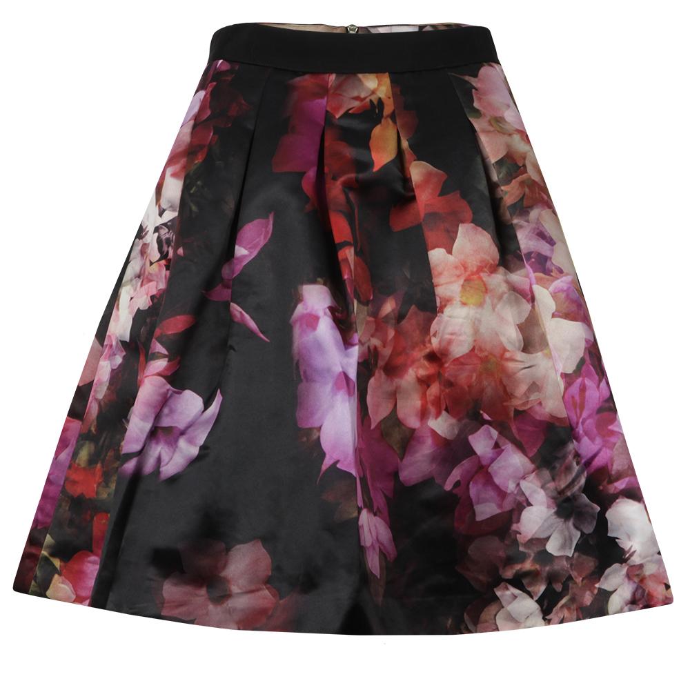 346beca99 Ted Baker Womens Black Abaigh Cascading Floral Full Skirt main image.  Loading zoom