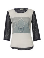 Photoprinted Woven Top