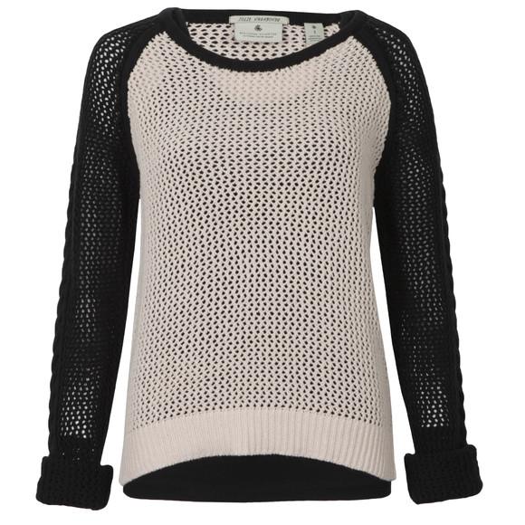 Maison Scotch Womens Black Mesh Knitted Sweater With Tank main image