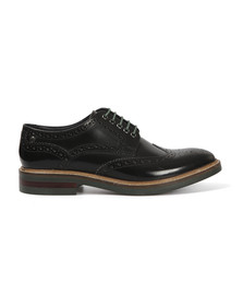 Base London Mens Black Woburn Brogue Shoe