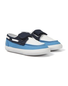 Lacoste Boys Blue Lacoste Keel CLC Canvas Boat Shoe