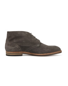 H By Hudson Mens Grey Houghton Suede Boot