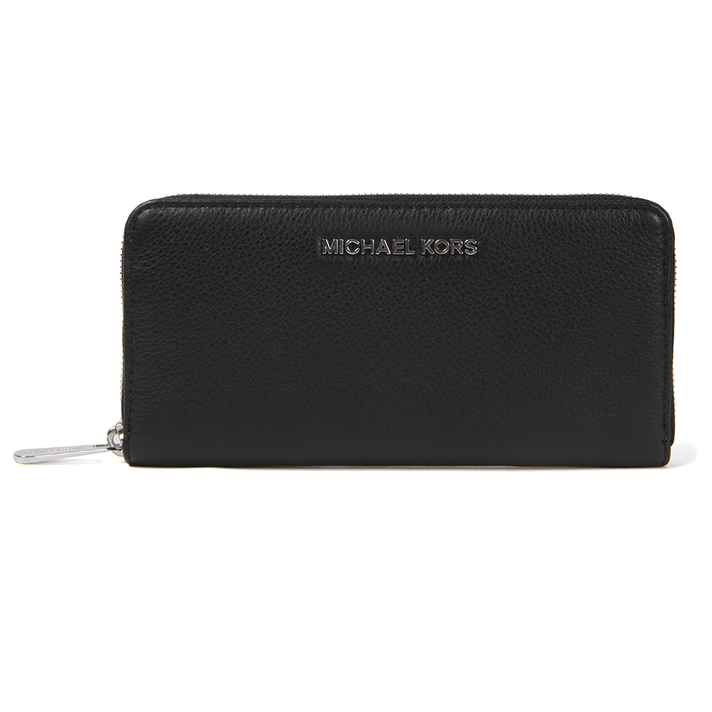 b68c836a69d5 Michael Kors Womens Black Silver Bedford Continental Zip Purse