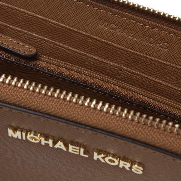 Michael Kors Womens Brown Jet Set Zip Purse main image