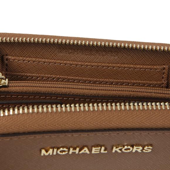 Michael Kors Womens Brown Jet Set Travel Large Coin Multi Function Phone Case main image