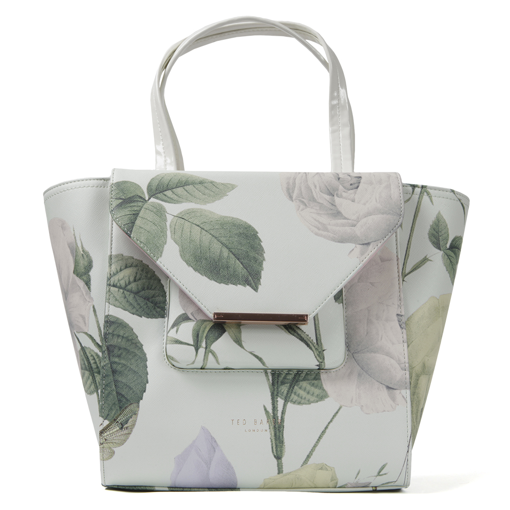 1ce5a3c29 Ted Baker Womens Green Dania Distinguishing Rose Crosshatch Large Tote main  image. Loading zoom