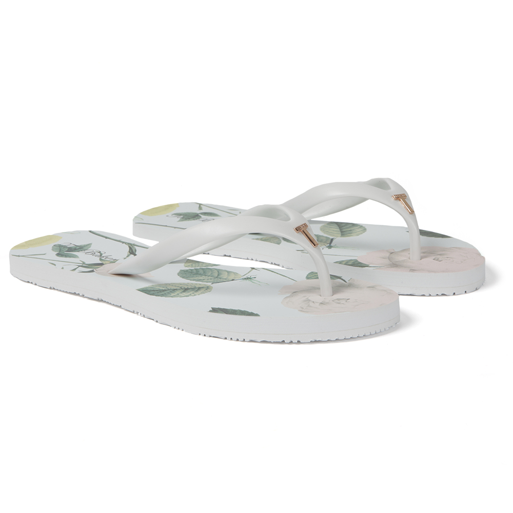 a0d1f92ab2bc4c Ted Baker Womens White Anjou Flip Flop main image. Loading zoom