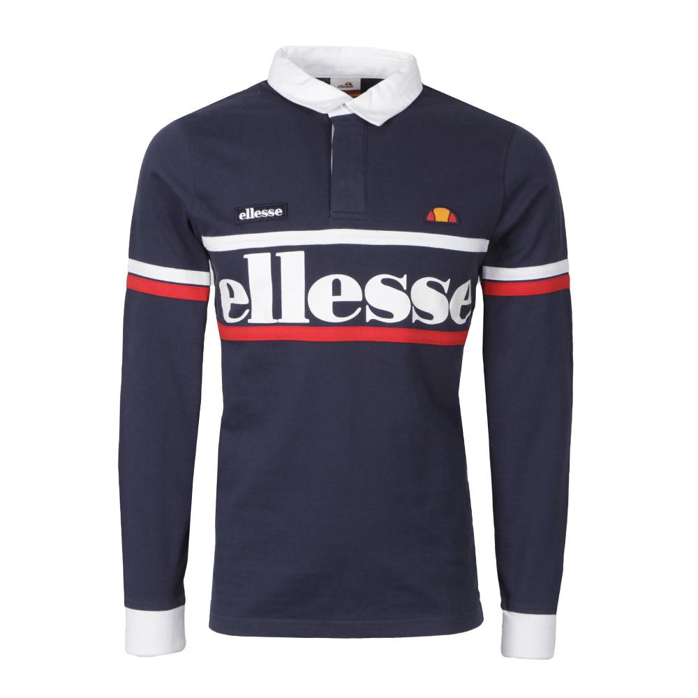 7c4035cebe Mens Blue Ghiraldini Long Sleeve Rugby Polo Shirt