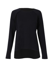 French Connection Womens Blue Cora Stretch Long Sleeve Top