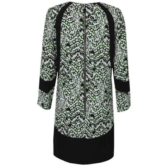 French Connection Womens Green Leopard Moth Crepe Tunic Dress main image