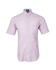 Paul & Shark Mens Pink S/S Woven Stripe Shirt
