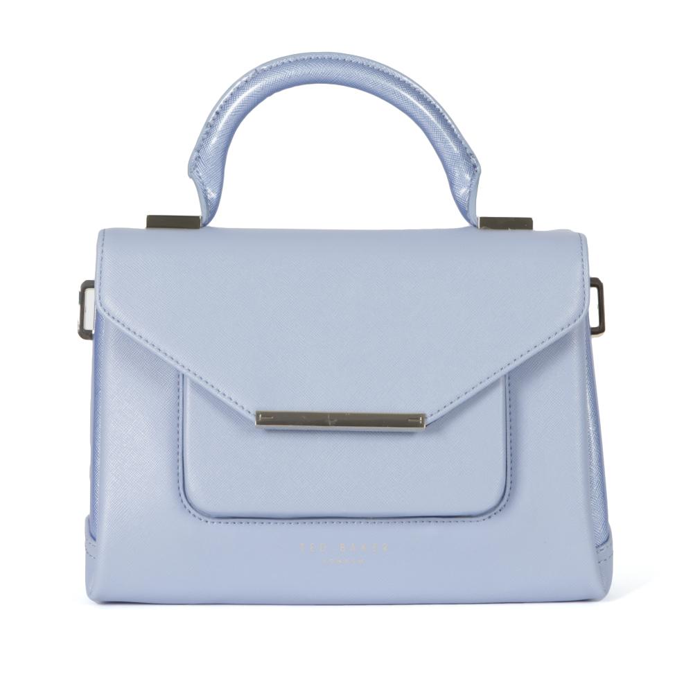 0af2eb4b733d8 Ted Baker Womens Blue Mariza Patent Crosshatch Lady Bag main image. Loading  zoom