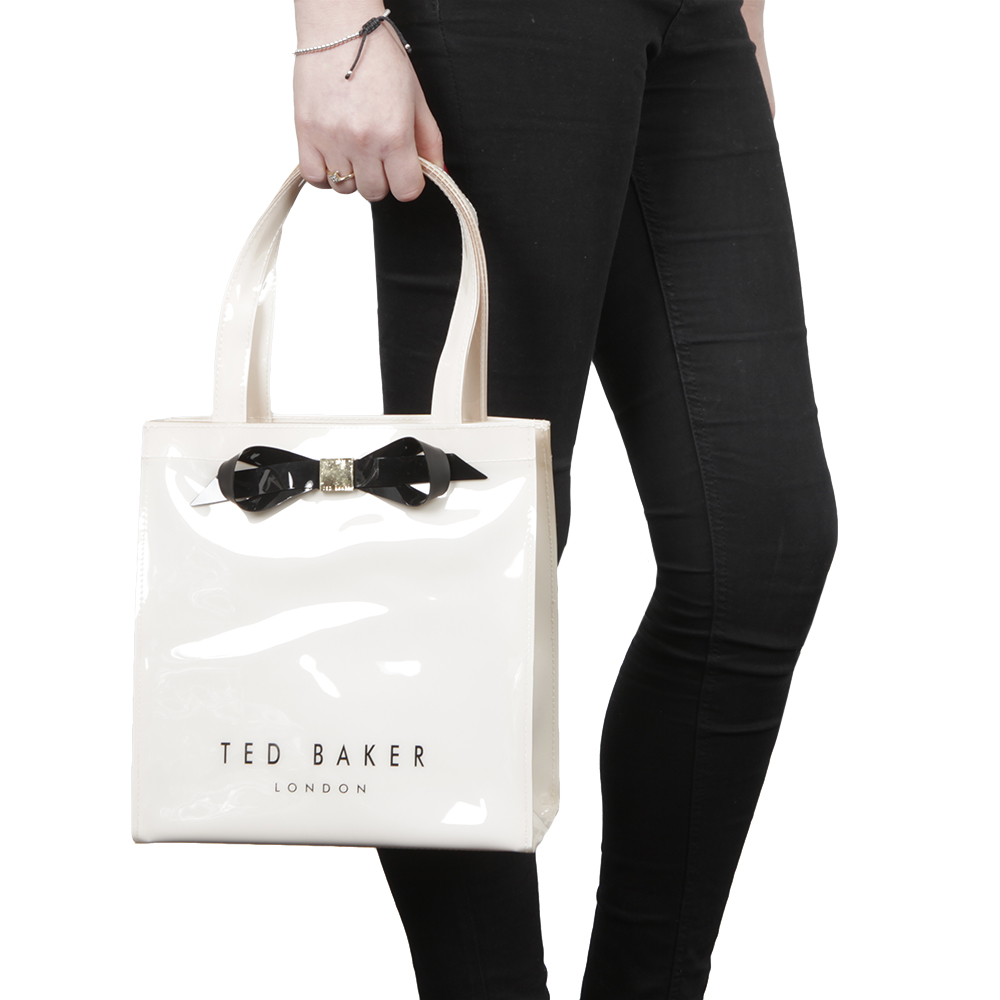 57fe146eb7 Ted Baker Womens Off-White Raycon Plain Bow Small Icon Bag main image.  Loading zoom