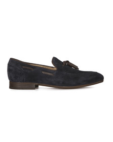 H By Hudson Mens Blue Pierre Suede Shoe
