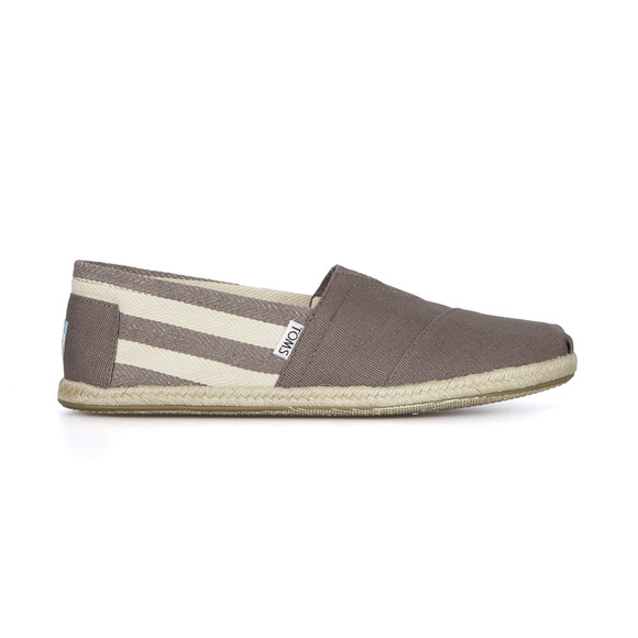 Toms Mens Grey Classic University Stripe Rope Slip On main image