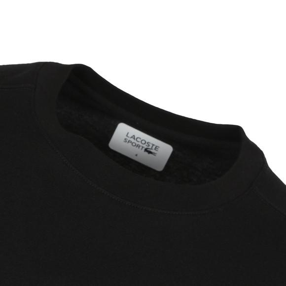 Lacoste Sport Mens Black TH7618 Plain T-Shirt