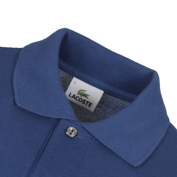 Lacoste Mens Blue L1212 Encrier Plain Polo Shirt main image