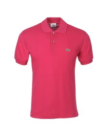 Lacoste Mens Pink L1212 Bigarreau Plain Polo Shirt