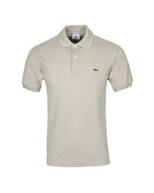 Lacoste Mens Beige L1212 Raphia Plain Polo Shirt
