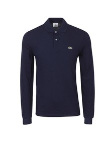 Lacoste Mens Blue L1312 Marine Long Sleeve Polo