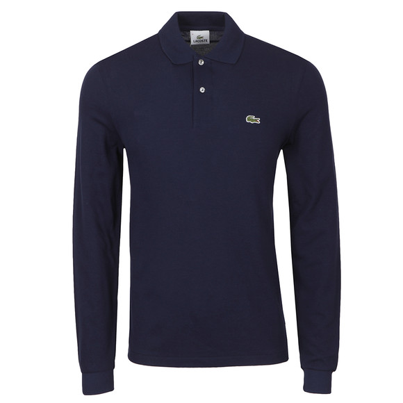 Lacoste Mens Blue L1312 Marine Long Sleeve Polo main image