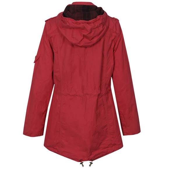 Barbour International Womens Red Deauville Parka main image