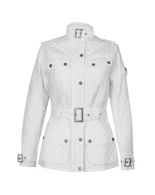 Barbour International Womens White Folco Cruiser Quilted Jacket