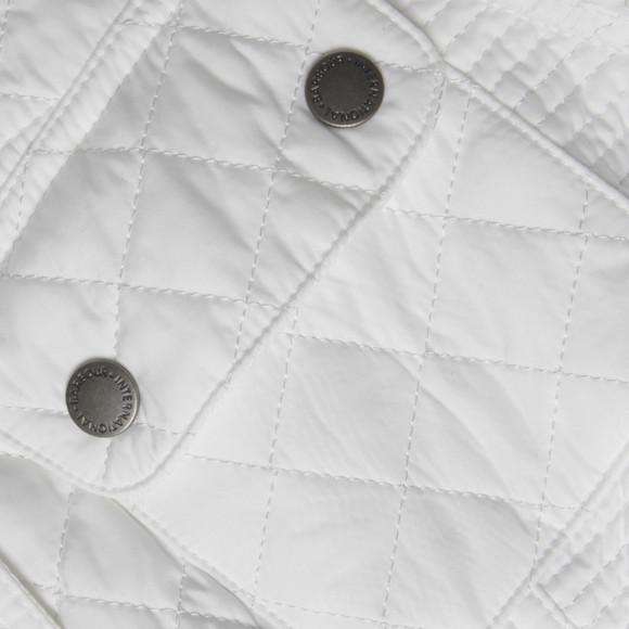 Barbour International Womens White Folco Cruiser Quilted Jacket main image