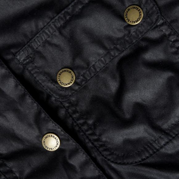 Barbour International Womens Blue Electra Wax Jacket main image