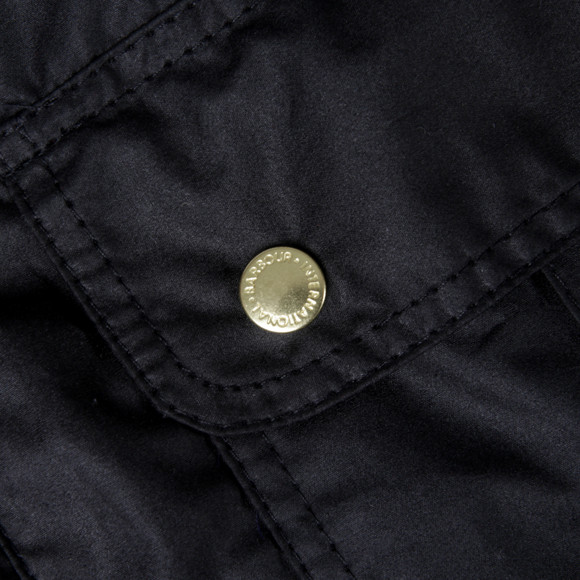 Barbour International Womens Black Vision Wax Jacket main image