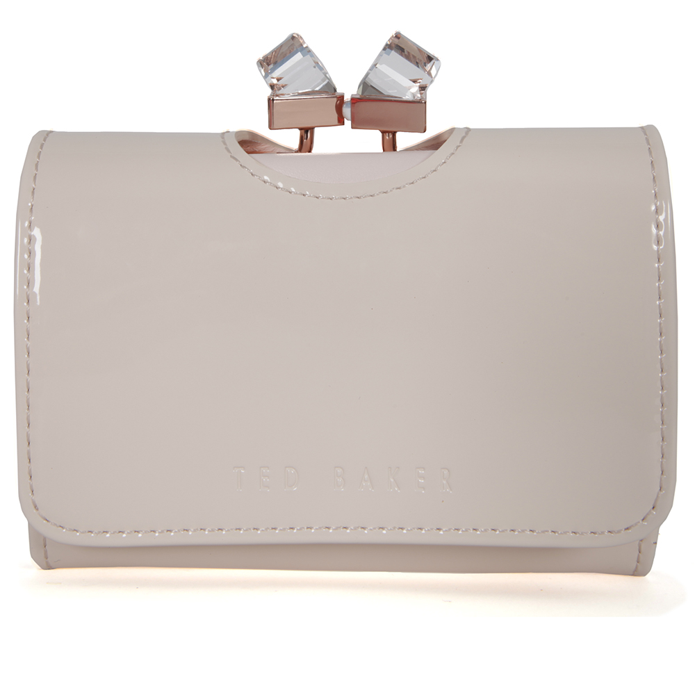 7b3558e980aae1 Ted Baker Kryssi Patent Crystal Frame Small Purse