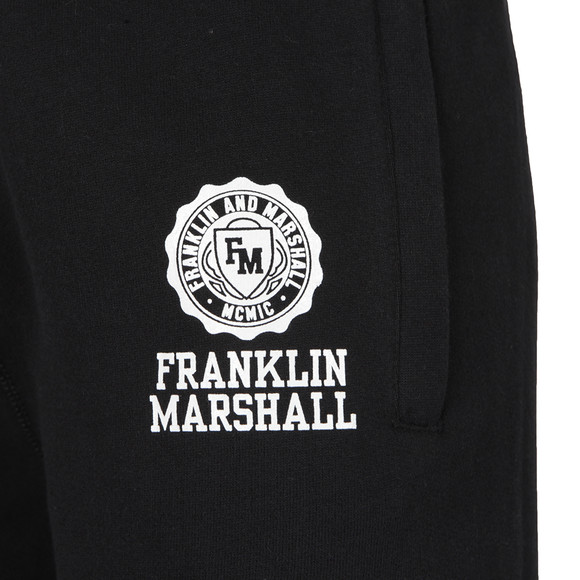 Franklin & Marshall Mens Black Printed Crest Jogger main image