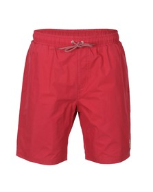 Luke Mens Red Cagy Knee Length Swim Short