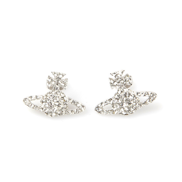Vivienne Westwood Womens Silver Grace Bas Relief Stud Earring main image