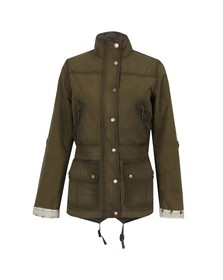 Barbour Heritage Womens Green Wharfe Wax Jacket