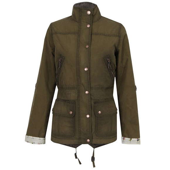 Barbour Heritage Womens Green Wharfe Wax Jacket main image