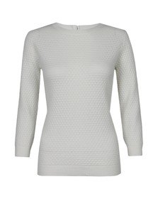 Ted Baker Womens Off-white Criana 3D Pretty Stitch Jumper