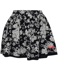 Superdry Womens Blue Festival Print Shift Skirt