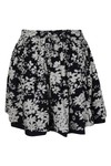 Superdry Womens Blue Festival Print Shift Skirt