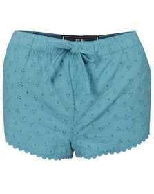 Superdry Womens Blue Cotton Runner Short