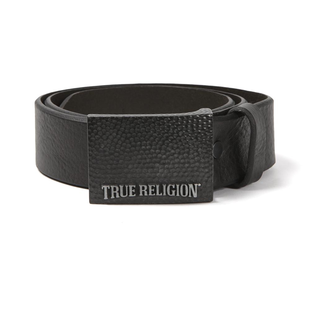 3d8e3e8f1 True Religion Logo Buckle Belt
