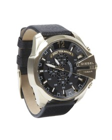 Diesel Mens Black Diesel DZ4344 Mega Chief Watch