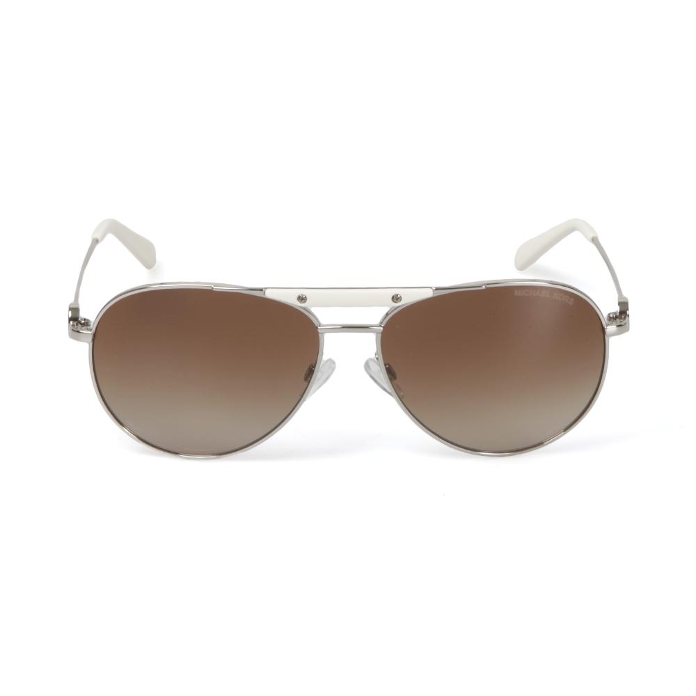 d58fb5ae77ca2 Michael Kors Womens White MK5001 Zanzibar Sunglasses