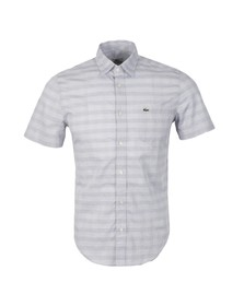 Lacoste Mens Grey CH9394 Short Sleeve Shirt