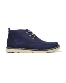 Toms Mens Blue Cotton Twill Chukka Boot