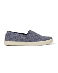 Toms Mens Blue Avalon Espadrilles